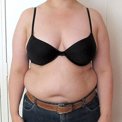 April 2012: 90kg's wearing size 18 jeans
